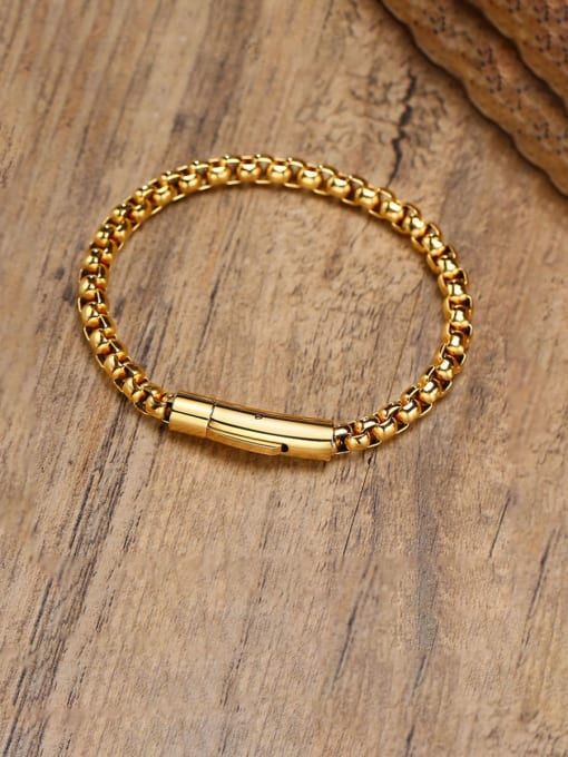 CONG Stainless steel Irregular Vintage Link Bracelet 0