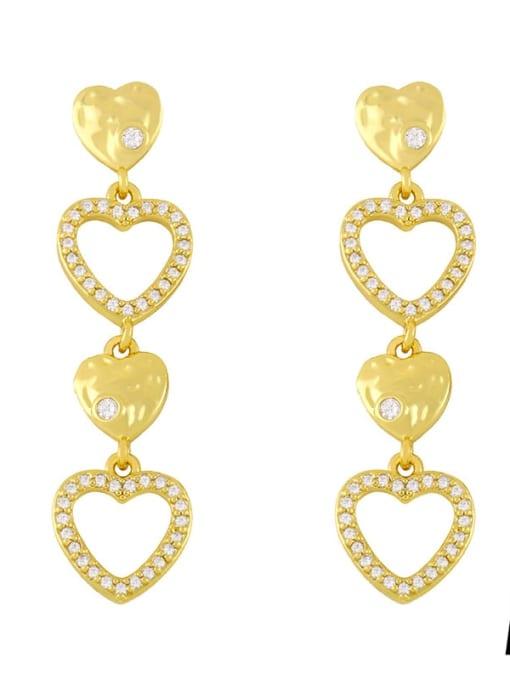 CC Brass Cubic Zirconia Tassel Minimalist Drop Earring 3