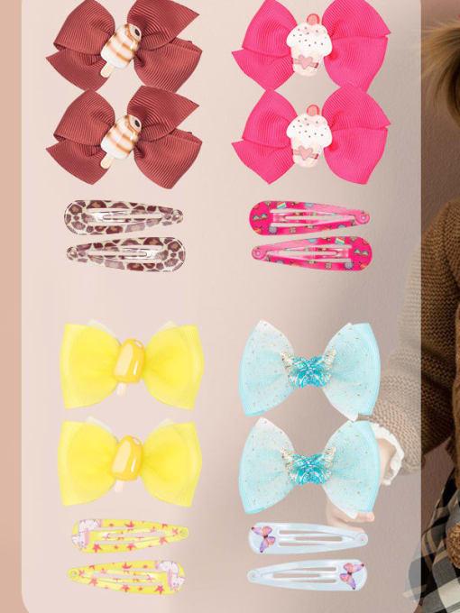 YOKI KIDS Alloy Yarn Cute Bowknot  Multi Color Hair Barrette 4