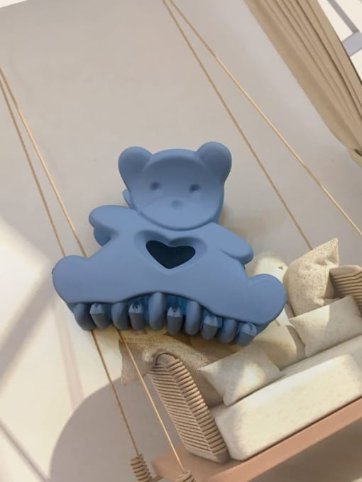 Frosted blue Alloy Resin Cute Panda Jaw Hair Claw