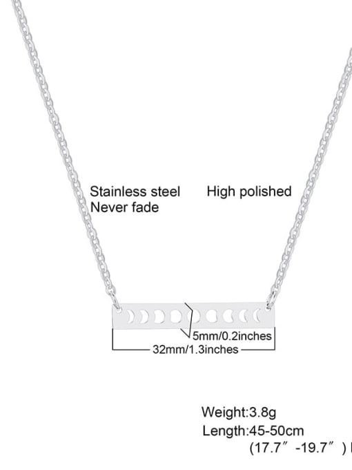 CONG Titanium Steel Smooth Geometric Minimalist Necklace 1