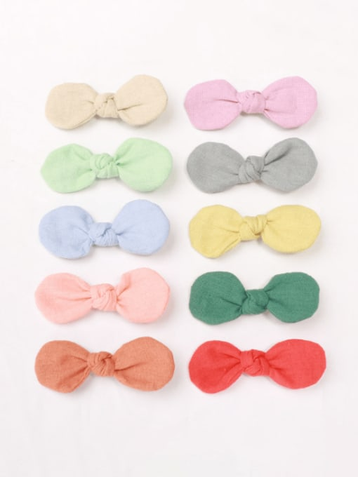 YOKI KIDS Alloy Fabric Minimalist Bowknot  Multi Color Hair Barrette 0