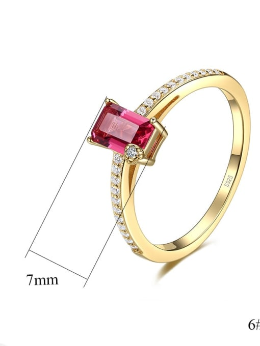 CCUI 925 Sterling Silver Cubic Zirconia Geometric Dainty Band Ring 3
