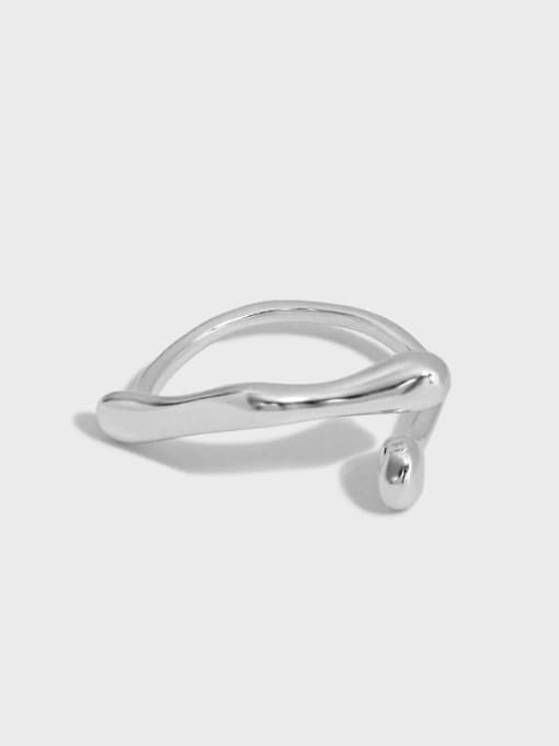 DAKA 925 Sterling Silver Irregular Vintage Band Ring