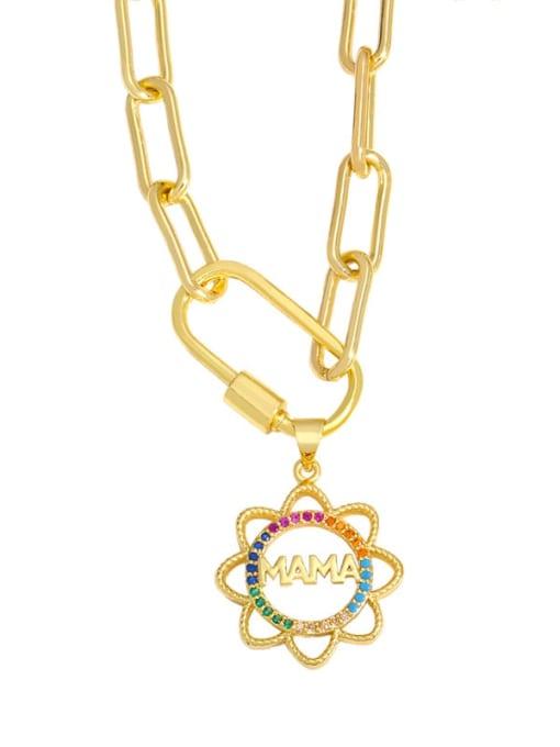 A Brass Cubic Zirconia  Minimalist Letter Heart Pendant Necklace