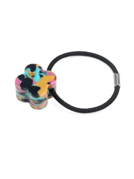 Dazzling color Cellulose Acetate Minimalist Flower Hair Rope