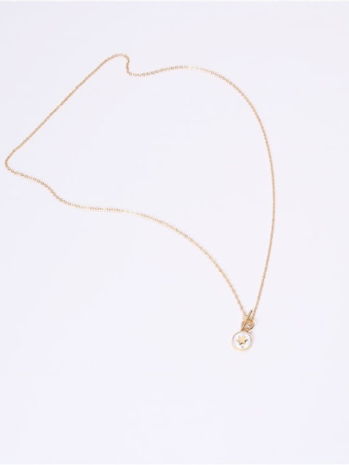 GROSE Titanium Steel Shell Round Minimalist Necklace 3