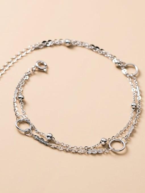 Rosh 925 Sterling Silver Irregular Minimalist Strand Bracelet