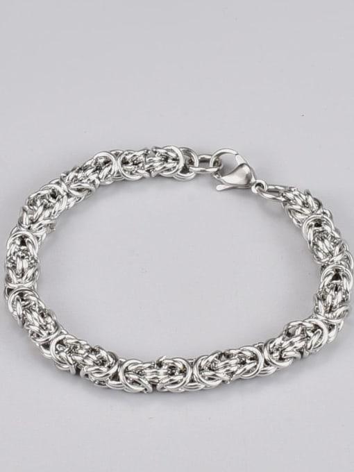A TEEM Titanium Steel Irregular Hip Hop Link Bracelet 1