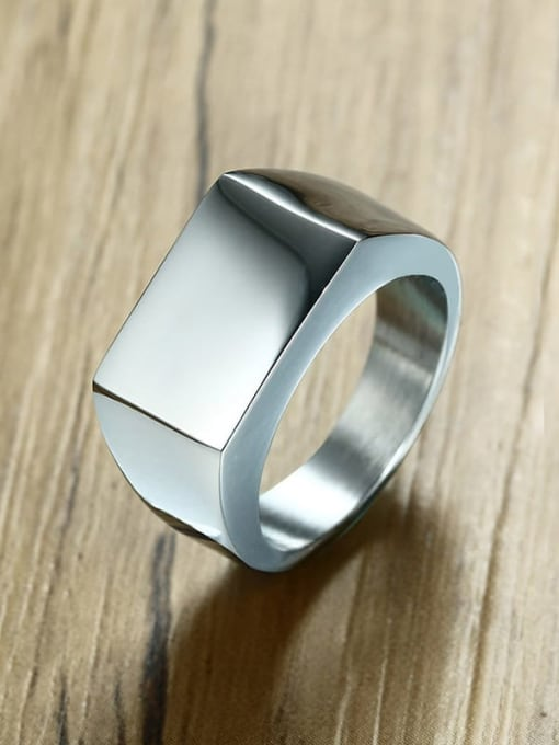 CONG Stainless steel Geometric Minimalist Band Ring 1