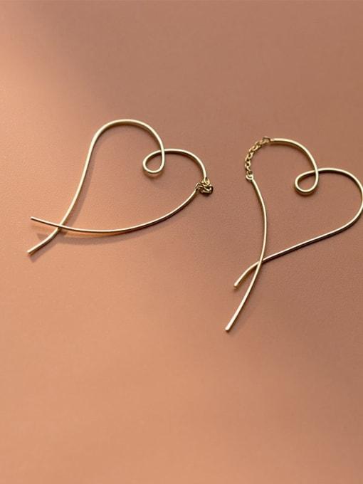 Rosh 925 Sterling Silver Heart Minimalist Hoop Earring 1