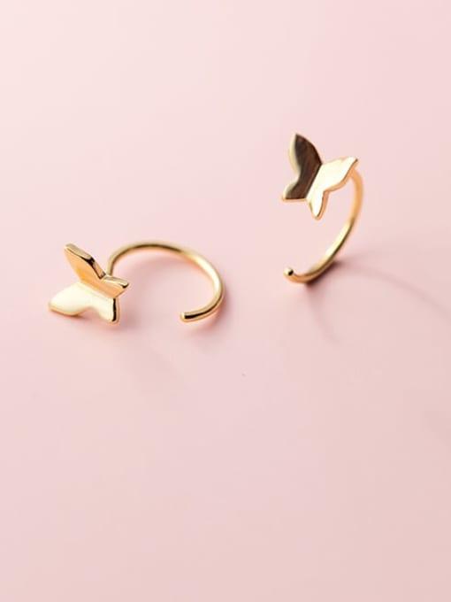 Rosh 925 Sterling Silver Butterfly Minimalist Hook Earring