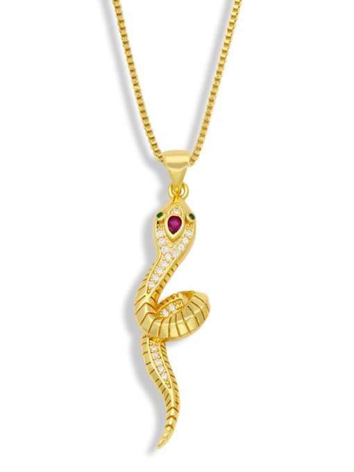 CC Brass Rhinestone Animal Vintage Necklace 2