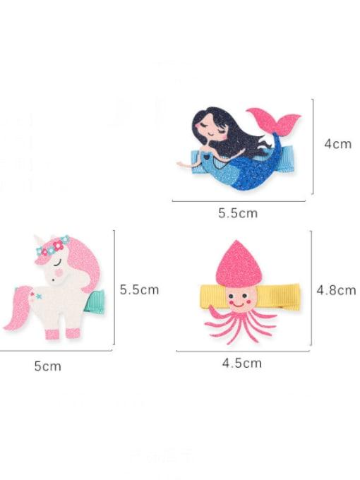 YOKI KIDS Alloy Fabric Cute Icon Multi Color Hair Barrette 1