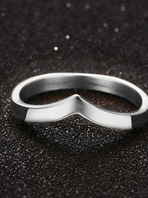 CONG Titanium Steel Geometric Minimalist Band Ring 3