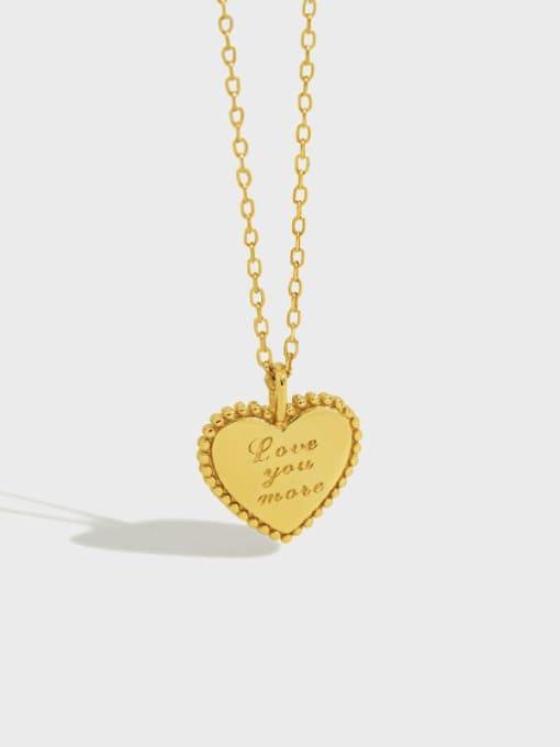 DAKA 925 Sterling Silver Heart Minimalist Necklace