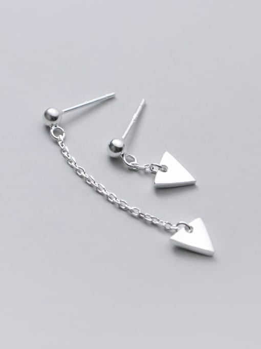 Rosh 925 Sterling Silver Triangle Minimalist Stud Earring 2