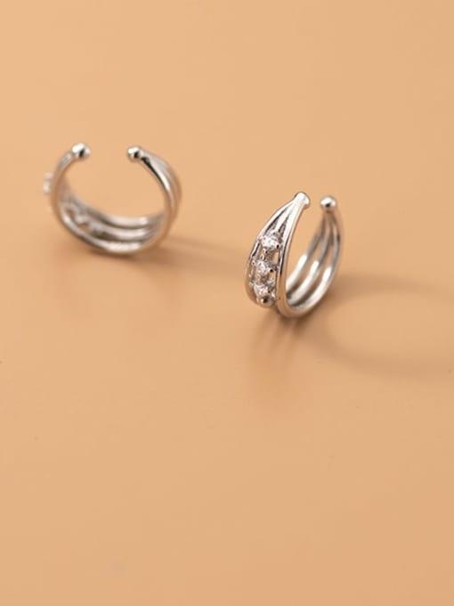 Rosh 925 Sterling Silver Geometric Minimalist Clip Earring 0