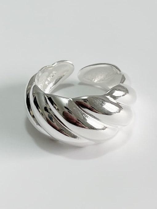 Boomer Cat 925 Sterling Silver Irregular Vintage Band Ring