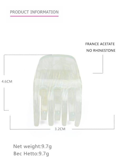 Transparent cyan Cellulose Acetate Minimalist Geometric Zinc Alloy Jaw Hair Claw