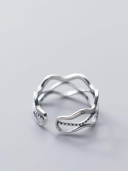 Rosh 925 Sterling Silver Geometric Vintage Band Ring 2