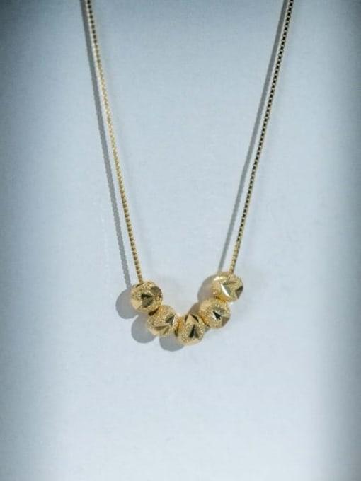 A TEEM Titanium Steel Oval Minimalist Necklace 2