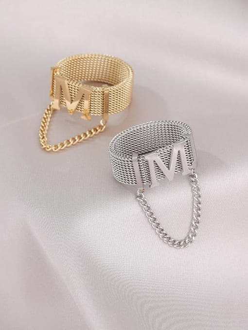 MIYA Titanium Steel Tassel Hip Hop Band Ring 1