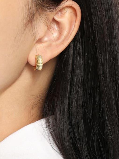 DAKA 925 Sterling Silver Geometric Vintage Stud Earring 2