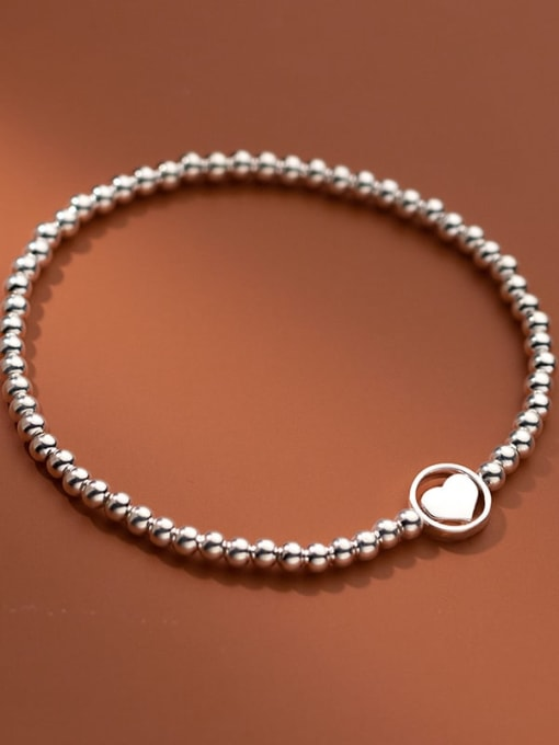 Rosh 925 Sterling Silver Bead Geometric Minimalist Beaded Bracelet 3