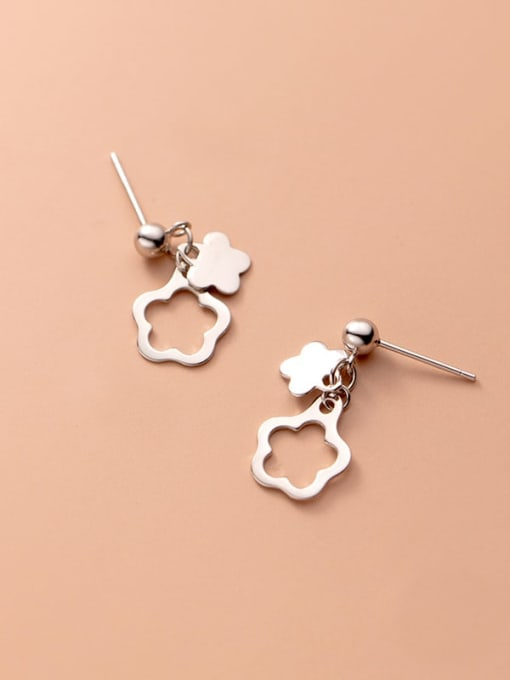 Rosh 925 Sterling Silver Flower Minimalist Drop Earring 0