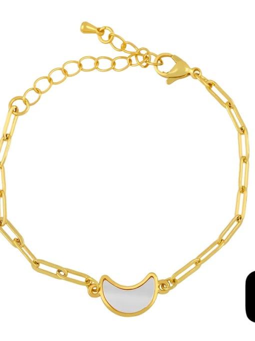 C Brass Shell Butterfly Minimalist Adjustable Bracelet