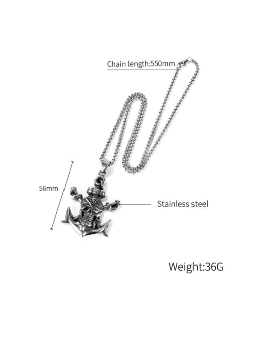 Open Sky Titanium Steel Anchor Hip Hop Necklace 3
