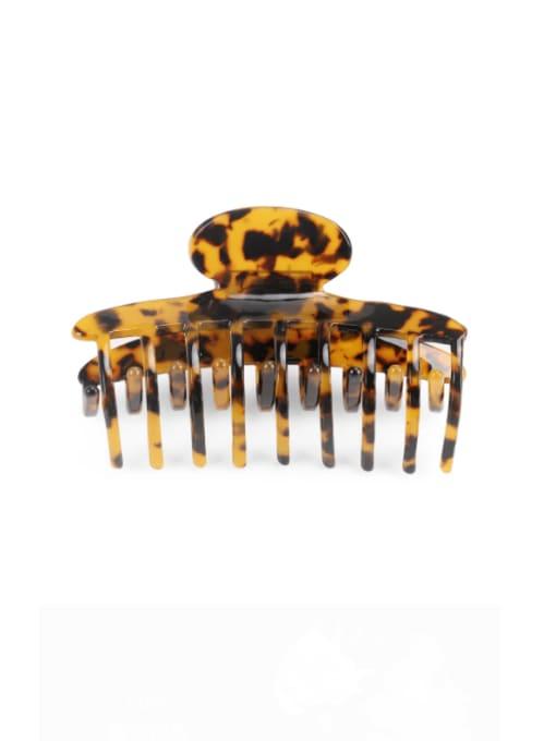Deep hawksbill Cellulose Acetate Minimalist Geometric Zinc Alloy Jaw Hair Claw