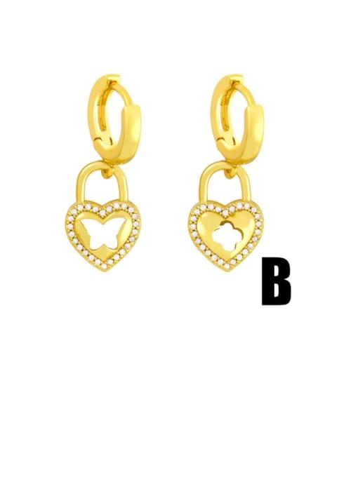 CC Brass Cubic Zirconia Star Vintage Huggie Earring 3