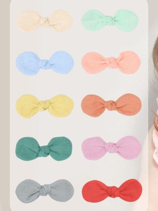 YOKI KIDS Alloy Fabric Minimalist Bowknot  Multi Color Hair Barrette 1