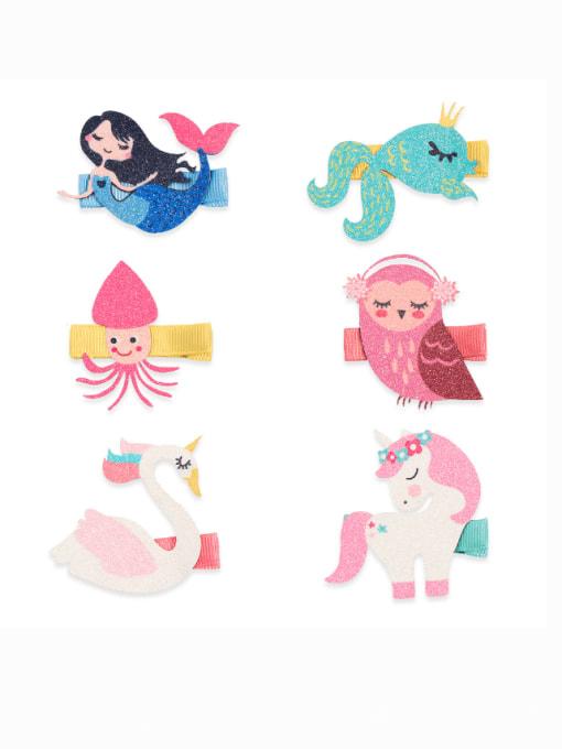 YOKI KIDS Alloy Fabric Cute Icon Multi Color Hair Barrette 0