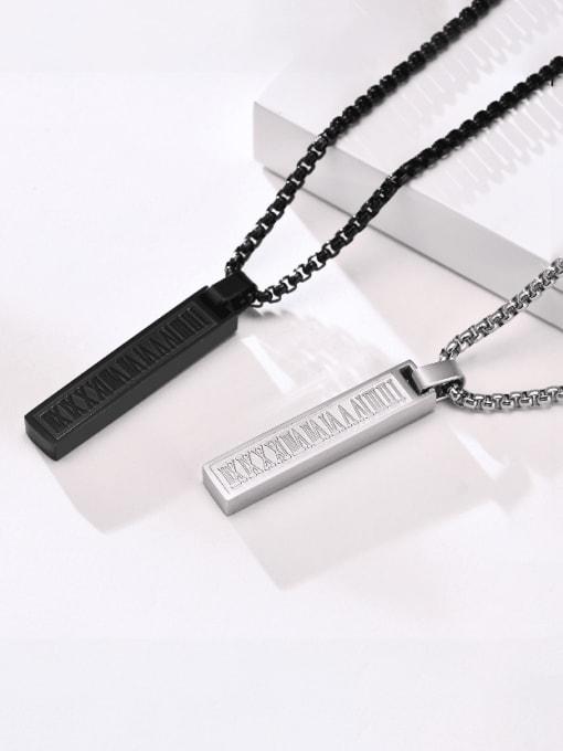 CONG Titanium Steel Geometric Hip Hop Necklace 0