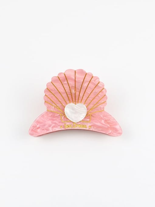 Small pink Cellulose Acetate Minimalist Bowknot Zinc Alloy Jaw Hair Claw