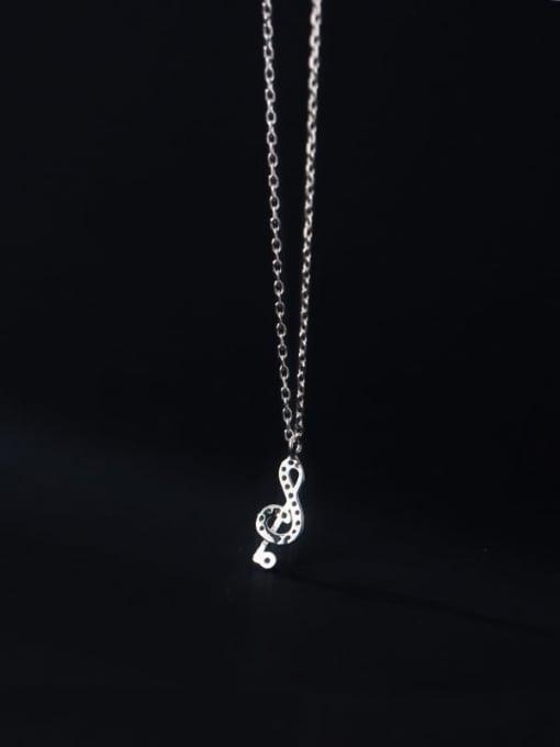 Rosh 925 Sterling Silver Cubic Zirconia Irregular Minimalist Necklace 2