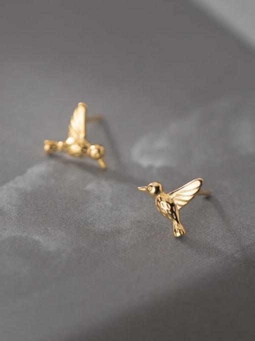 Rosh 925 Sterling Silver Bird Cute Stud Earring