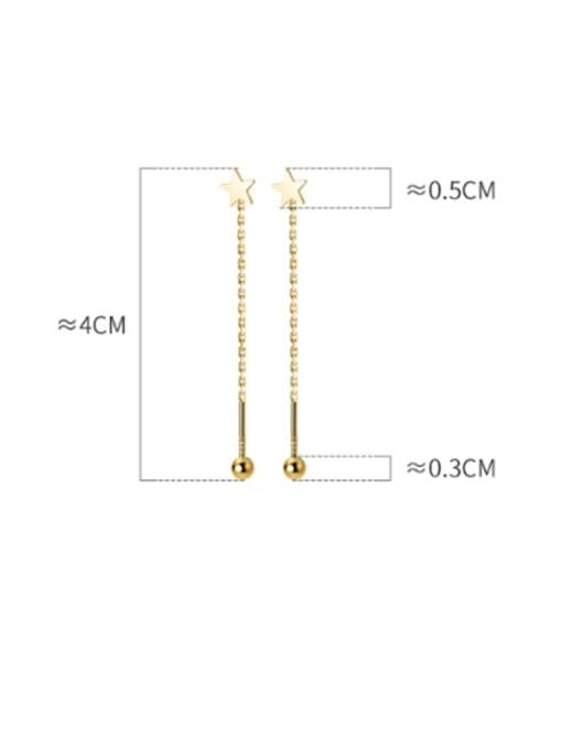 Rosh 925 Sterling Silver Tassel Minimalist Threader Earring 4