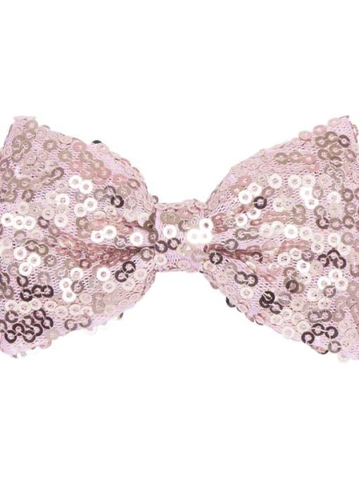 5 crystal powder Alloy Fabric Cute Bowknot  Multi Color Hair Barrette