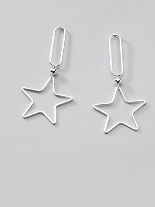 Rosh 925 Sterling Silver Star Minimalist Drop Earring 1