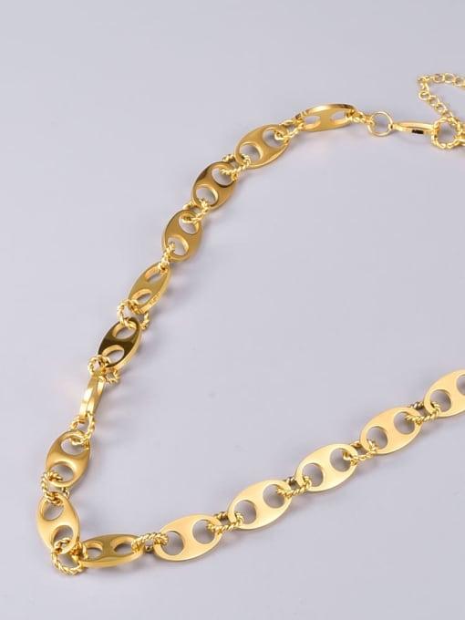 A TEEM Titanium Steel Hollow Geometric Vintage Necklace 3