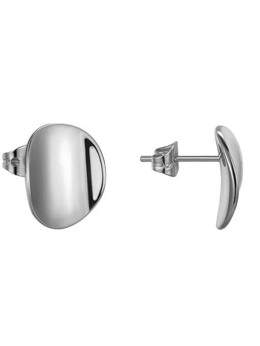 platinum Brass Geometric Vintage Stud Earring