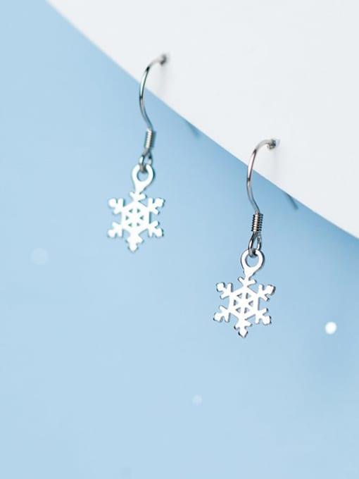 Rosh 925 Sterling Silver Flower Minimalist Hook Earring 1