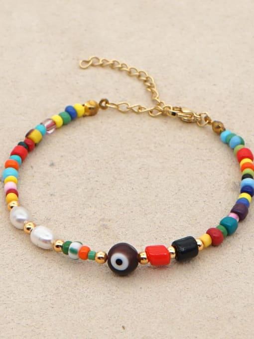 Roxi Stainless steel Bead Multi Color Evil Eye Bohemia Adjustable Bracelet 3