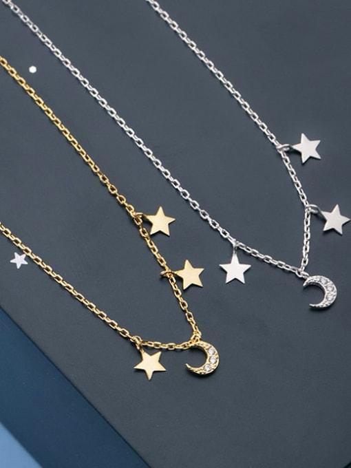 Rosh 925 Sterling Silver Star Minimalist Necklace 2