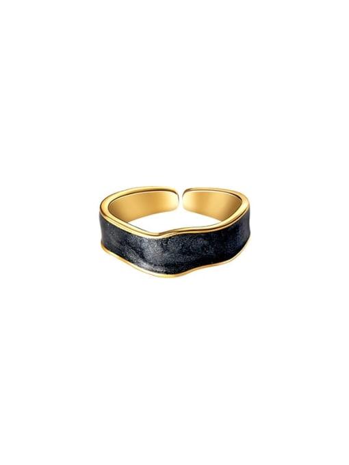 Rosh 925 Sterling Silver Enamel Geometric Minimalist Band Ring 3
