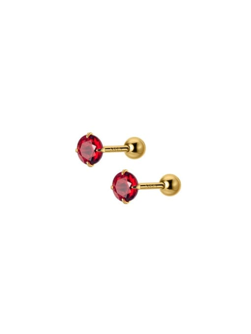 Rosh 925 Sterling Silver Rhinestone Round Minimalist Stud Earring 3